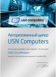 Сертификат дилера от от USN Computers