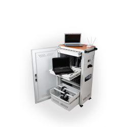 Компьютерная тележка СМ SafeCharger Lingua на 16-20 ноутбуков с ящиком для наушников