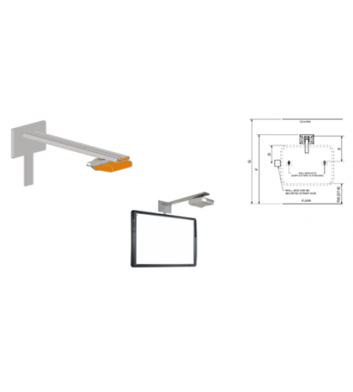 Короткофокусный проектор PRM-45 с раздельным настенным креплением