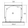 "Kauber InCeiling Tensioned BT Cinema  131"" 16:9 163x290 см. дроп 50см.,Peak Contrast S"