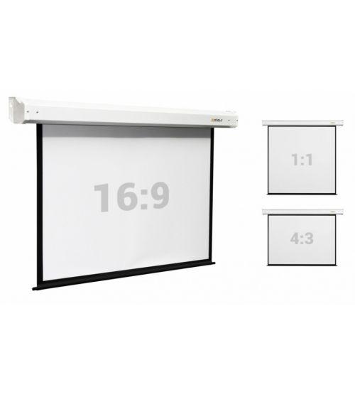 """Экран настенный с электроприводом Digis Electra формат 1:1 161"""" (300*300) MW DSEM-1108M."""