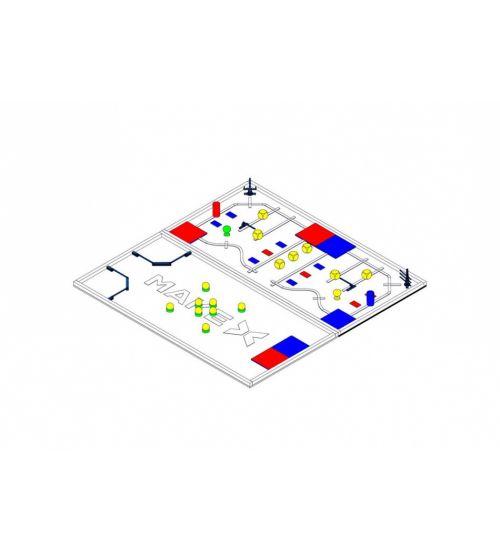Ресурсный набор: соревновательное поле с элементами MakeX 2019 City Guardian Arena Expansion Kit for Blue Planet.