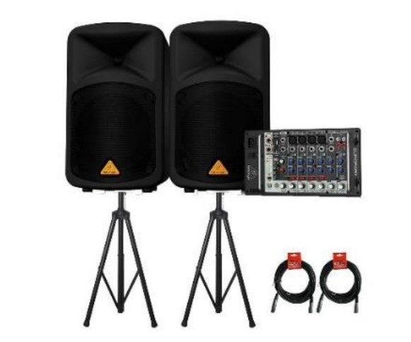 Портативная система звукоусиления Behringer EPS500MP3 с MP3 плеером в комплекте со стойками