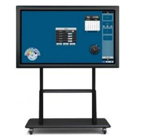Интерактивная панель Clevertouch 70 дюймов c разрешением 4К со встроенным ПК Multi-Touch, Intel Core i5/4GB/ 500GB/Win 10 на мобильной стойке